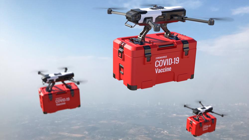 Drones delivering Covid-19 vaccines