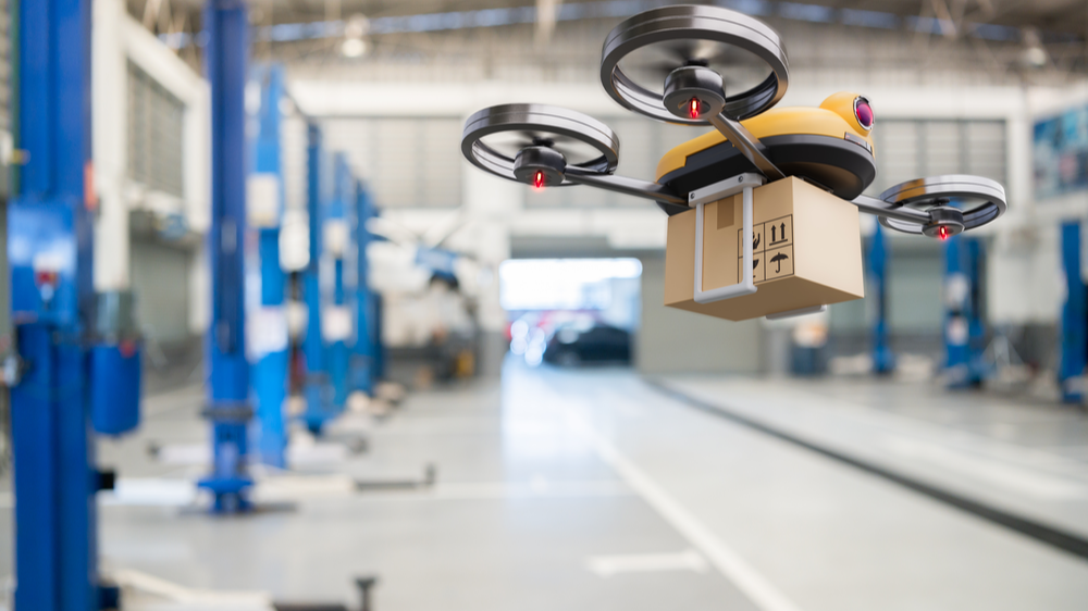 Drone delivery in Industrial IoT