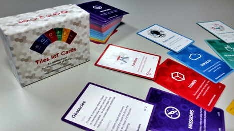 Tiles IoT Cards game