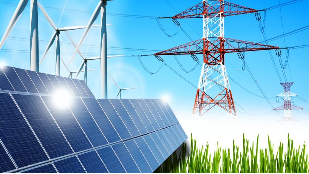 smart grid and renewable sources concept